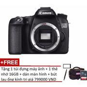 Canon EOS 70D 20.2MP Wifi Body (Đen) + Tặng 1 túi đựng máy ảnh + 1 thẻ nhớ 16GB + dán màn hình + bút...