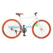 Xe đạp Fixed Gear Single thời trang SportSlink (Trắng phối cam) - XD_FGS_TRANG_CAM