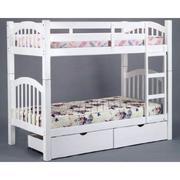 Giường tầng trẻ em Kiza Classic màu trắng