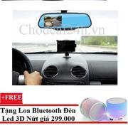 Camera hành trình xe hơi tích hợp gương và camera lùi DVR +Tặng Loa bluetooth Hình Con Nhộng XC10