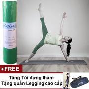 Thảm Tập Yoga Relax Có Túi Đựng + Tặng Quần Legging Và Nước Vệ Sinh Thảm