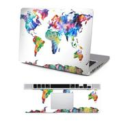 PVC Protective Full Surface Skin Decal Sticker and Palm Rest Cover Sticker Set for Apple MacBook Pro...