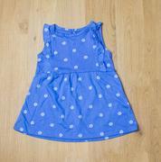 Đầm bé gái xanh chấm hoa NB