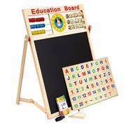 Bảng từ học chữ và số 2 mặt có nam châm Education Board