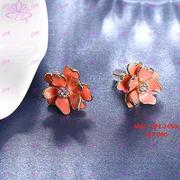 Bông tai hình hoa đính hạt Elvy DPE.2450c