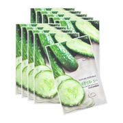 Combo 10 mặt nạ Nature Republic Real Nature Cucumber Mask Sheet 23ml