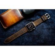 Dây đồng hồ da thật Handmade cho Apple Watch ( 38mm và 42mm ) – Mẫu BF09D5