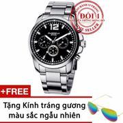 Đồng hồ nam dây thép không gỉ EYKI EOV8568 (Bạc)