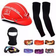 Bộ Nón Bảo Hiểm thời trang + 1 mũ ninja + 1 đôi bao tay chống nắng + 1 kính phượt + Tặng 2 khăn phượ...