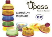 Hộp chia sữa 4 ngăn Upass nhiều màu sản xuất từ Đài Loan, không BPA rất an toàn dùng đựng sữa cho bé
