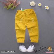Quần kaki lưng thun cào rách dễ thương cho bé trai 1 - 8 Tuổi QTB195382