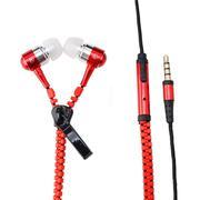 Tai nghe dây kéo Zippers chống rối dây - màu đỏ