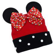 Mũ len Mickey chấm bi AMB