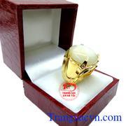 Nhẫn nam sapphire trắng 18k