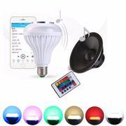 Loa buletooth kiêm bóng đèn tiết kiệm điện LED đổi màu