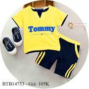 Bộ thun TOMMY dễ thương cho bé trai 1 - 7 Tuổi BTB14752