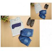 Bộ áo Guess phối quần jeans áo 9kg - 24kg