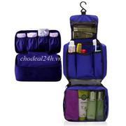 Bộ túi đựng đồ cá nhân du lịch và túi đựng đồ lót du lịch (xanh lá) + Tặng Máy mát-xa xung điện trị ...