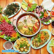 Hấp dẫn Set ăn và Lẩu đầy đặn cho 6-8 người tại Phiêu Quán