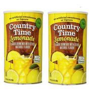 Bộ 2 hộp Bột pha nước chanh Country Time Lemonade 2.33kg