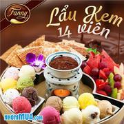 Lẩu kem 14 viên - 9 vị hấp dẫn tại kem Fanny đẳng cấp châu Âu