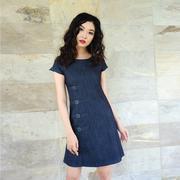 Đầm jean phối khóa thời trang Eden d192