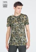 Áo thun màu xanh rêu họa tiết Zara