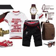 Quần nam. Set quần áo. Style thời trang trẻ - 125_màu đỏ
