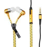 Tai nghe dây kéo Zippers chống rối dây - màu vàng