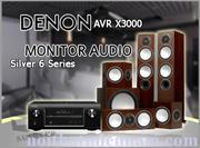 DENON AVR-X3000 - MONITOR AUDIO SILVER 6 Series