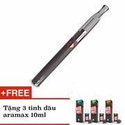 Bộ thuốc lá Vape - Shisha điện tử Aramax Vaping Pen (Đen) + tặng kèm 3 tinh dầu Liqua C 10ml (Đen)