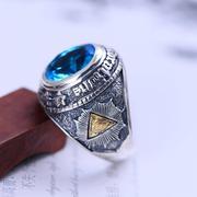 Nhẫn bạc nam gắn đá CZ hadosa