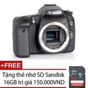 Canon EOS 70D 20MP Body (Đen) + Tặng thẻ nhớ SD Sandisk 16GB