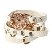 Fancyqube Lychee Full Of Diamond Bracelet Ladies Watch White