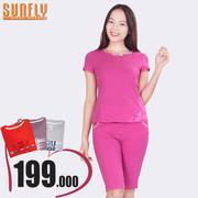 Bộ lửng mặc nhà thời trang Sunfly (Tím cẩm chướng) SP1316
