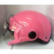 Mũ bảo hiểm cao cấp có kính Haly (Hồng)