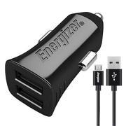 Sạc Ô tô Energizer 3.4A 2 cổng USB + 1 cáp Micro USB DCA2CULI3 - màu đen