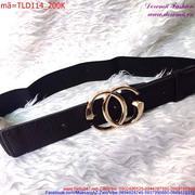 Thắt lưng nữ bản nhỏ logo Chanel phong cách sang trọng TLD114