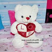 Gấu bông ôm tim chữ love TNB-14