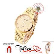 Đồng hồ nam dây thép không gỉ BAISHUNS C0057 (Vàng)+ Tặng Đồng hồ nữ dây kim loại thời trang JW 1951...