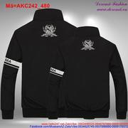 Áo khoác cặp tình nhân in họa tiết độc đáo sau lưng AKC242 (bb)