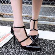 Giày cao gót quai cài chữ T kiểu mới
