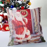 Creative Santa Claus Pattern Cotton Pillow Cover Pillow Cushion - intl