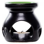 Combo Đèn Xông Tinh Dầu Hình Trái Tim Và Hộp 10 Nến Tealight
