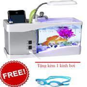 Bể cá mini thông minh tặng kèm 1 kính bơi