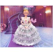 Búp bê công chúa dễ thương (trắng) + tặng kèm bộ phụ kiện