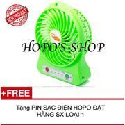 Quạt SẠC lạnh siêu tốc HOPO 3 cấp độ tích điện + TẶNG PIN SẠC HOPO LOẠI 1(Orange)