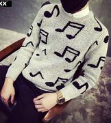 áo len nam hình nốt nhạc
