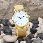 Women's Fashion Stainless Steel Band Quartz Wrist Watches Gold (Intl)