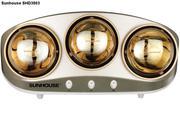 Đèn sưởi nhà tắm 3 bóng vàng Sunhouse SH D3803